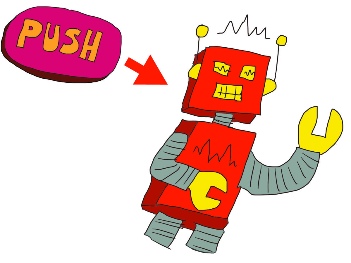 Red Button and Wacky Robot